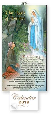 Lourdes Wood Plaque Calendar 2019.