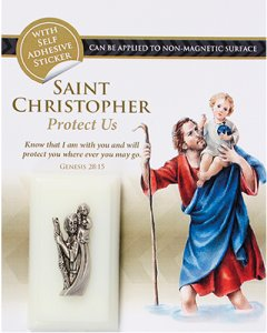 St. Christopher & the Apparitions Car Plaque.