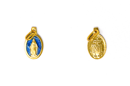 Gold Plated Small Miraculous Medal.