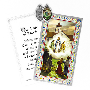 Our Lady of Knock Prayer Card & Medal.