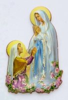 Our Lady with Bernadette Magnet.