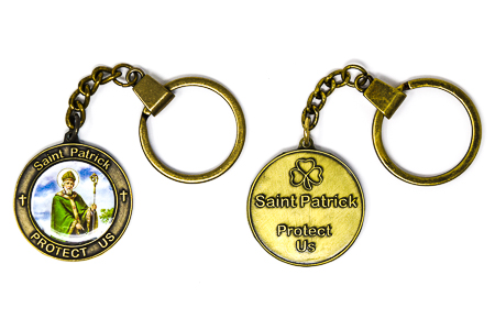Saint Patrick Key Chain.
