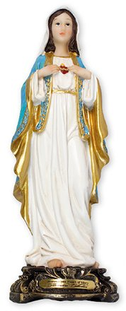 Immaculate Heart of Mary Resin Statue.