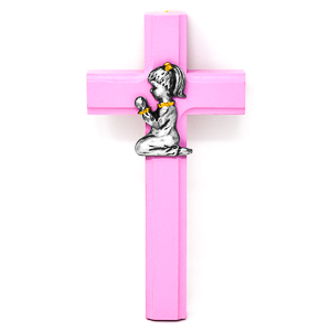 Pink Wood Cross.